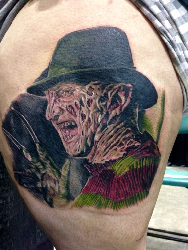 Colorful Horror Freddy Krueger Tattoo