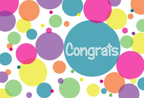 Congrats Colorful Circles Picture