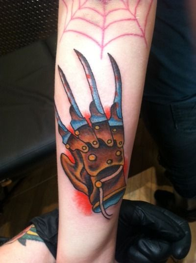Tattoo Nightmares Shop Website Of 16 Traditional Freddy Krueger Tattoos