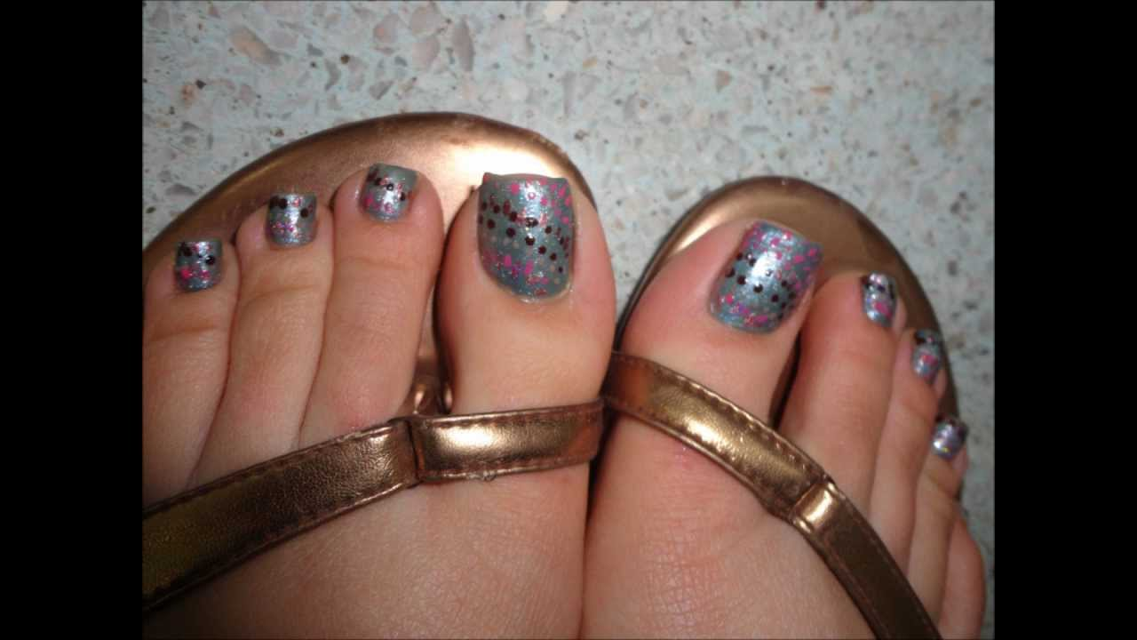 60 most beautiful toe nail art design ideas dotted splatter toe nail art by pinkpuff princess prinsesfo Image collections