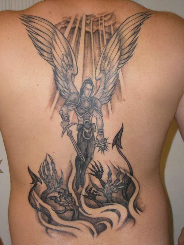 20 evil tattoos on full back