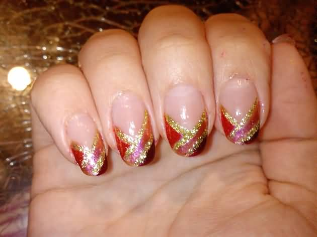 French tip nail designs for fall best nails 2018 glitter french tip autumn nail art 50 latest autumn fall nail art design ideas prinsesfo Images