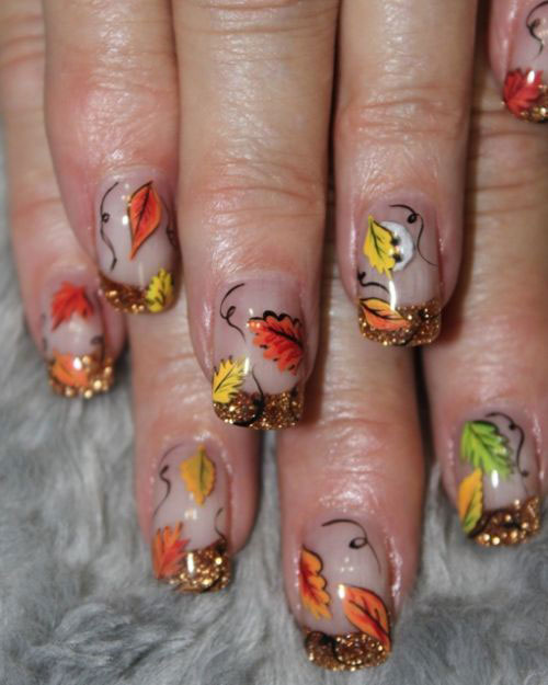 Thatleanne Firey Autumn Leaves Nail Art: 50 Best Nail Art Design Ideas For Autumn