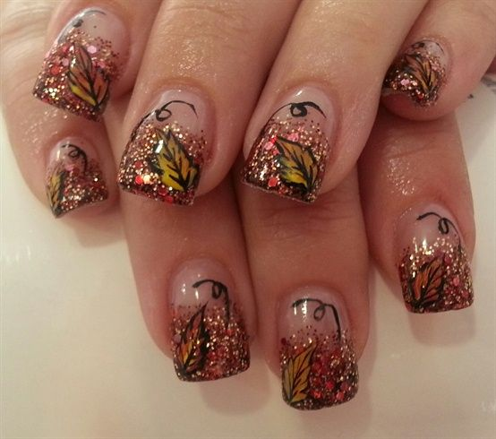 50 Latest Autumn Fall Nail Art Design Ideas