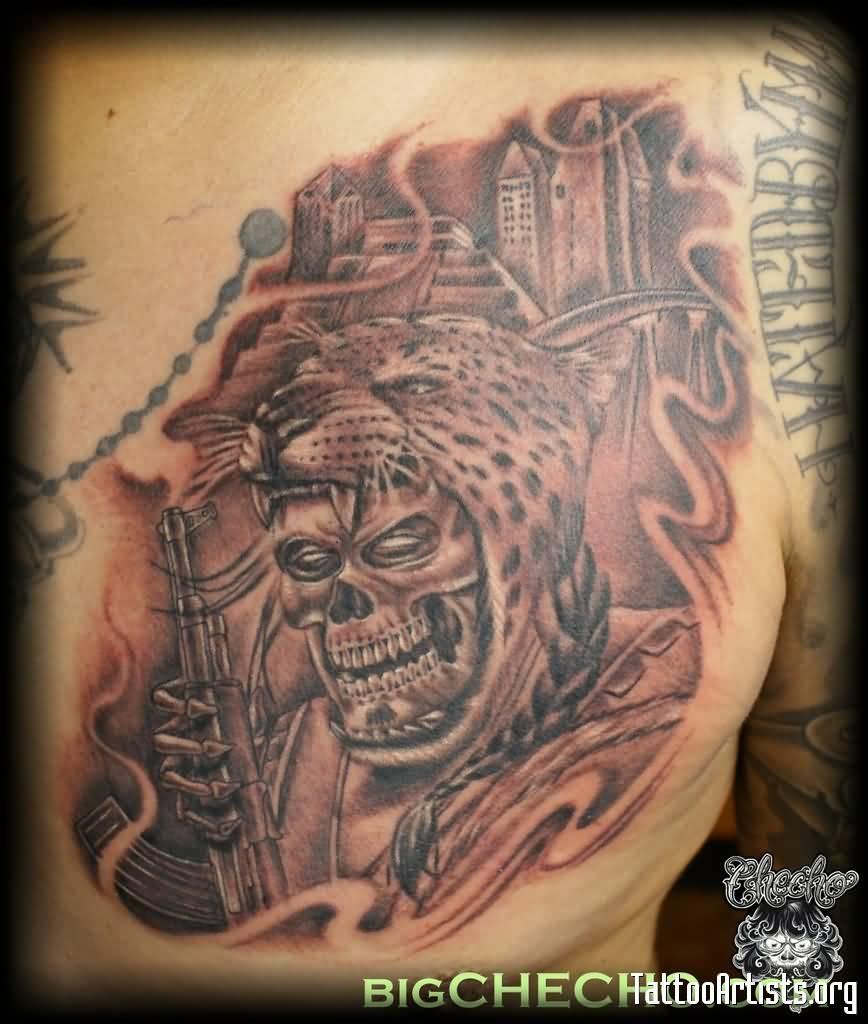 Aztec Jaguar Headdress Tattoo   www.imgkid.com - The Image ...
