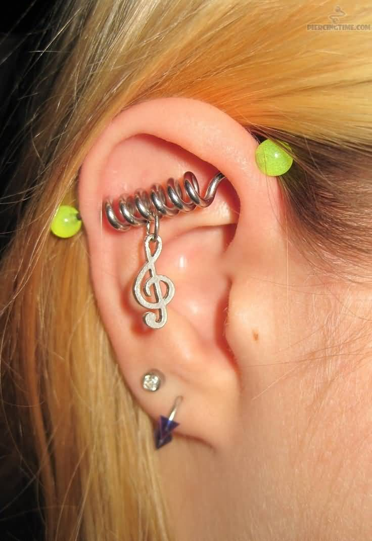 40+ Awesome Industrial Piercing Pictures
