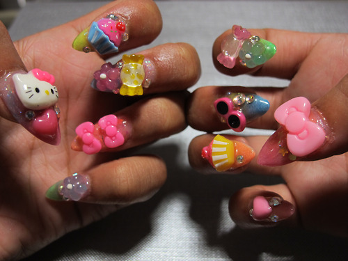 50 amazing 3d nail art design ideas japanese 3d nail art designs prinsesfo Image collections