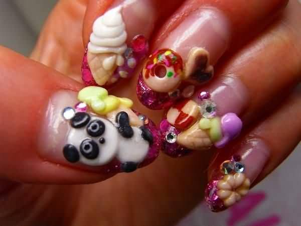 - Japanese Food 3d Nail Art