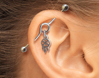 Industrial Piercing Dream Catcher Latest Industrial Piercing Design 13