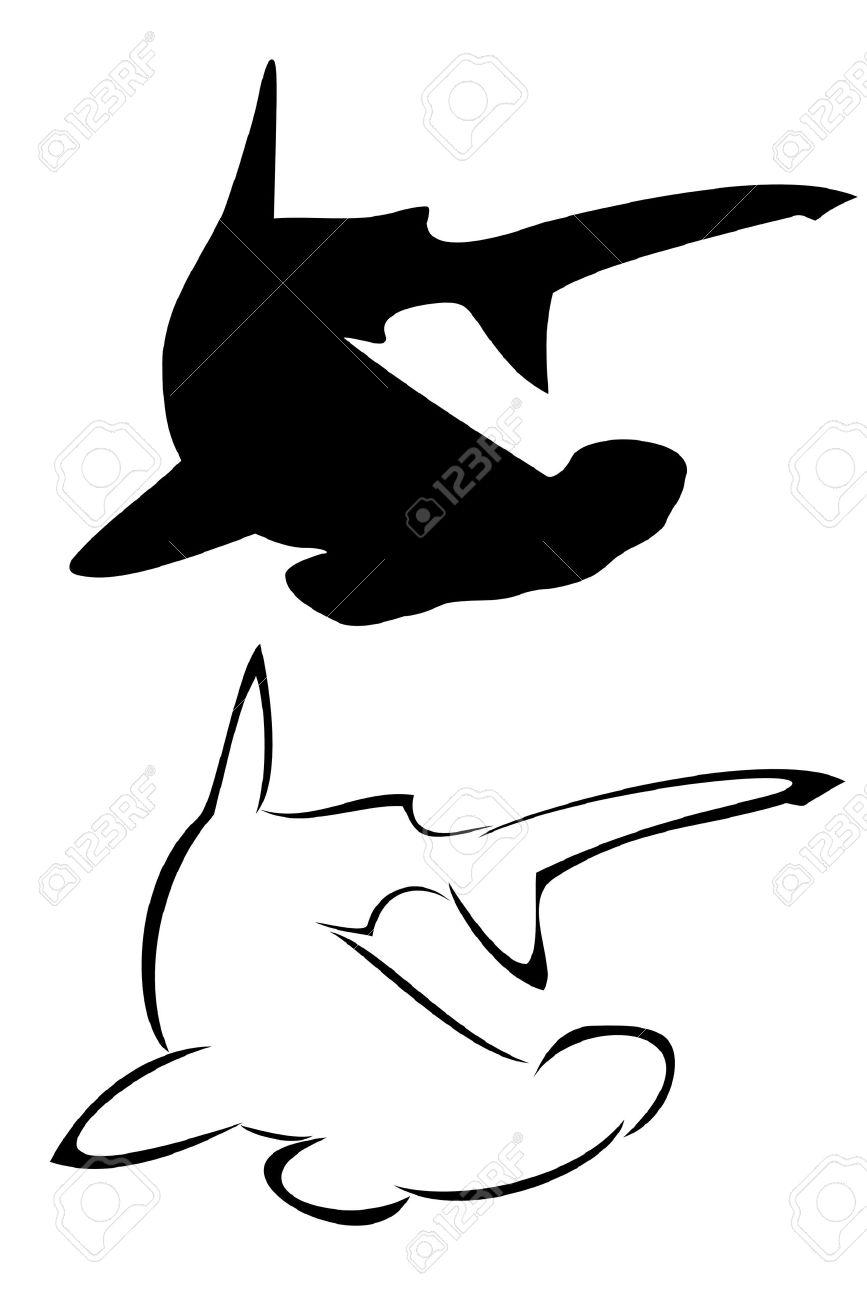 30+ Awesome Hammerhead Shark Tattoo Designs