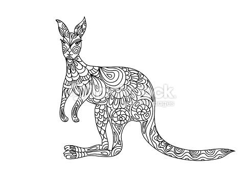 25 Amazing Kangaroo Tattoo Designs