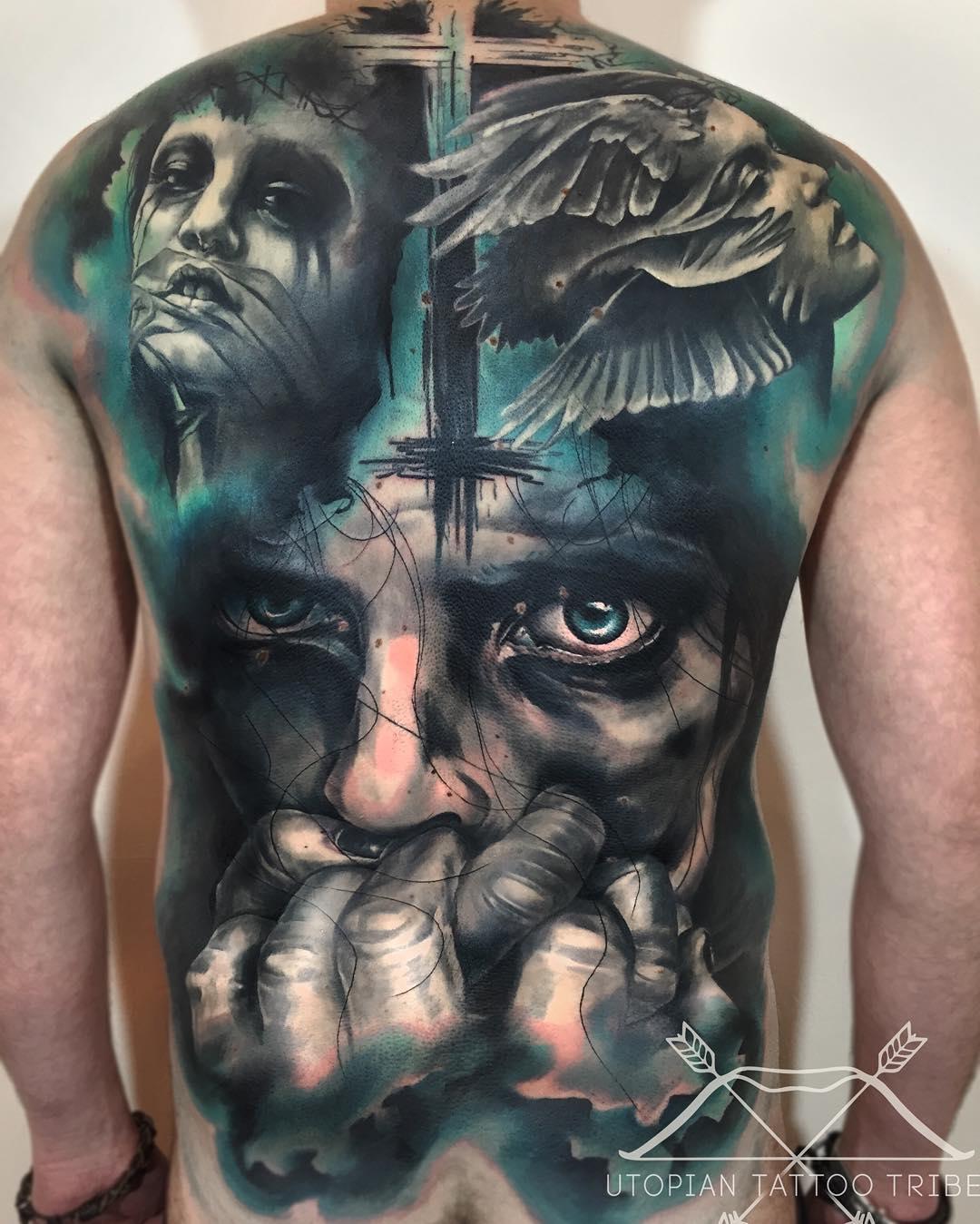 20+ Evil Tattoos On Full Back