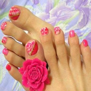 Summer toe nail designs 2012 images nail art and nail design ideas 45 most adorable toe nail art ideas for trendy girls pink floral toe nail art prinsesfo prinsesfo Images