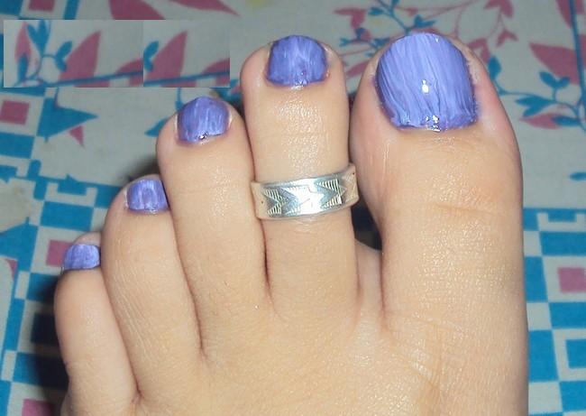 55 most stylish toe nail art ideas purple toe nail art design prinsesfo Gallery