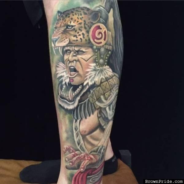 20 aztec jaguar tattoos for Jaguar warrior tattoo