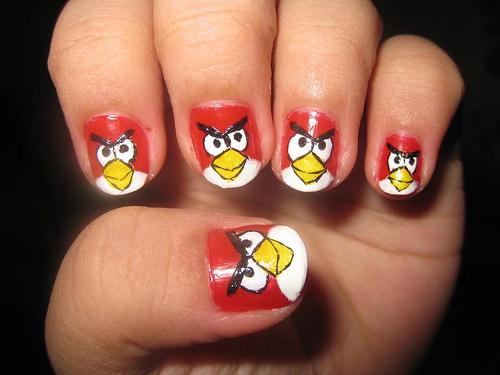 nail art angry birds के लिए चित्र परिणाम