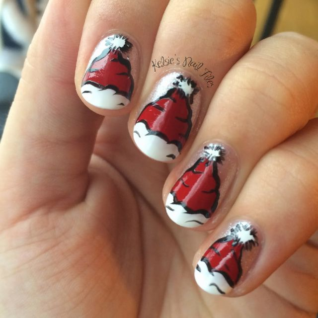 Santa Claus Nail Art: 40 Most Beautiful Nail Art Design Ideas For Winter