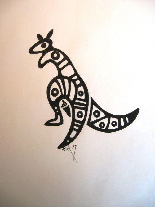 16 aboriginal kangaroo tattoos