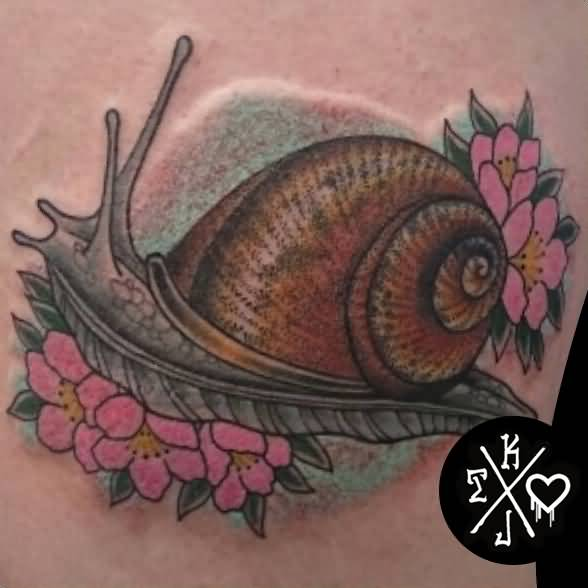 1460f39db Small Traditional Snail Tattoo