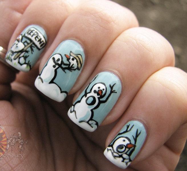 Winter Nail Art: 50+ Latest Winter Nail Art Design Ideas