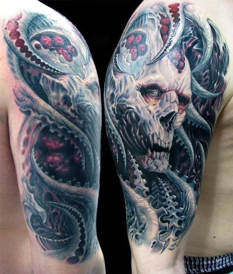 16 half sleeve evil tattoos - Wicked 3d tattoos ...