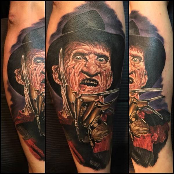 f7958217d Superb Freddy Colored Tattoo By Bill Atkinson