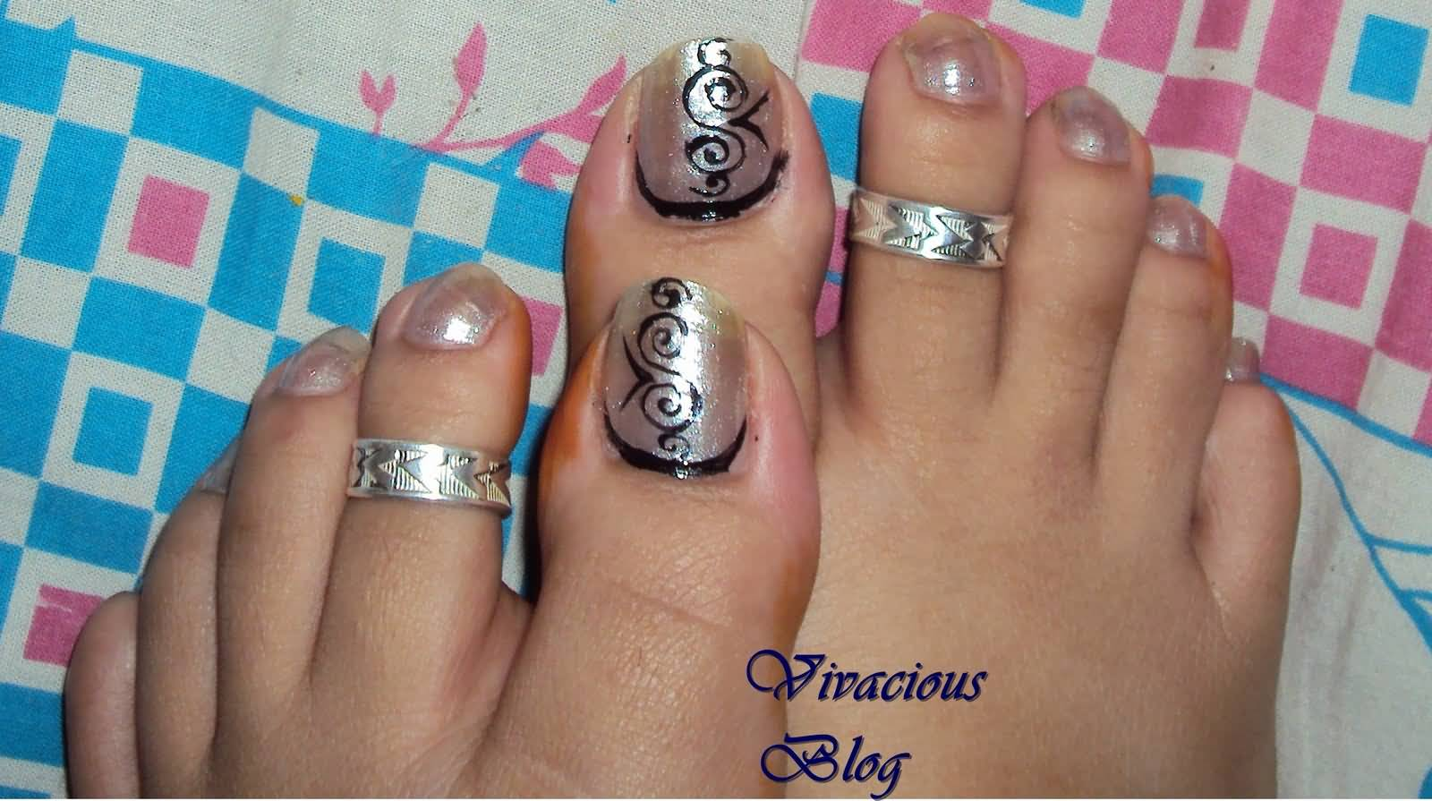 55 latest toe nail art designs toe nail designs idea prinsesfo Choice Image