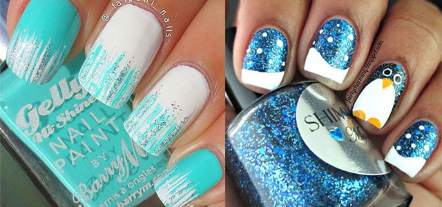 Two Adorable Winter Nail Art Designs