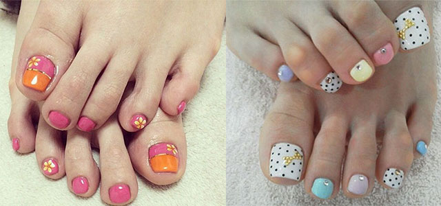 55 latest toe nail art designs two beautiful toe nail art design ideas prinsesfo Image collections