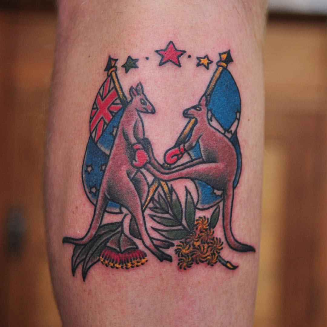 Traditional Tattoos Australia: 18+ Traditional Kangaroo Tattoos