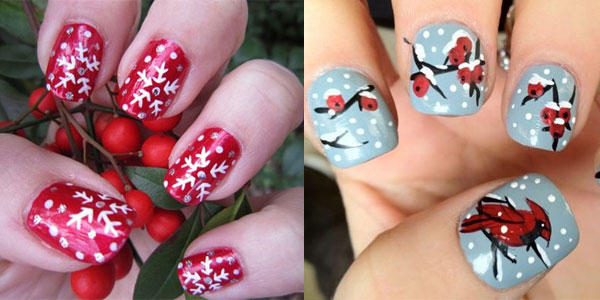 Nail Design Ideas 2012 shellac nails nail design one stroke nail designs snowman nail art shellac Two Winter Flower Designs Nail Art Nail Art Designs Ideas