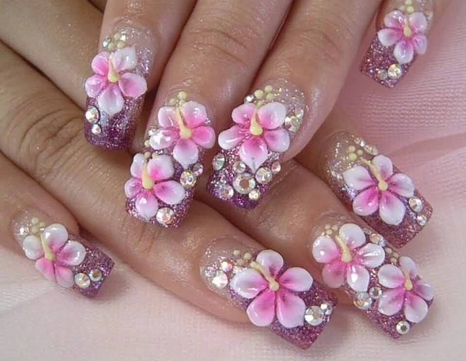 50+ Amazing 3D Nail Art Design Ideas