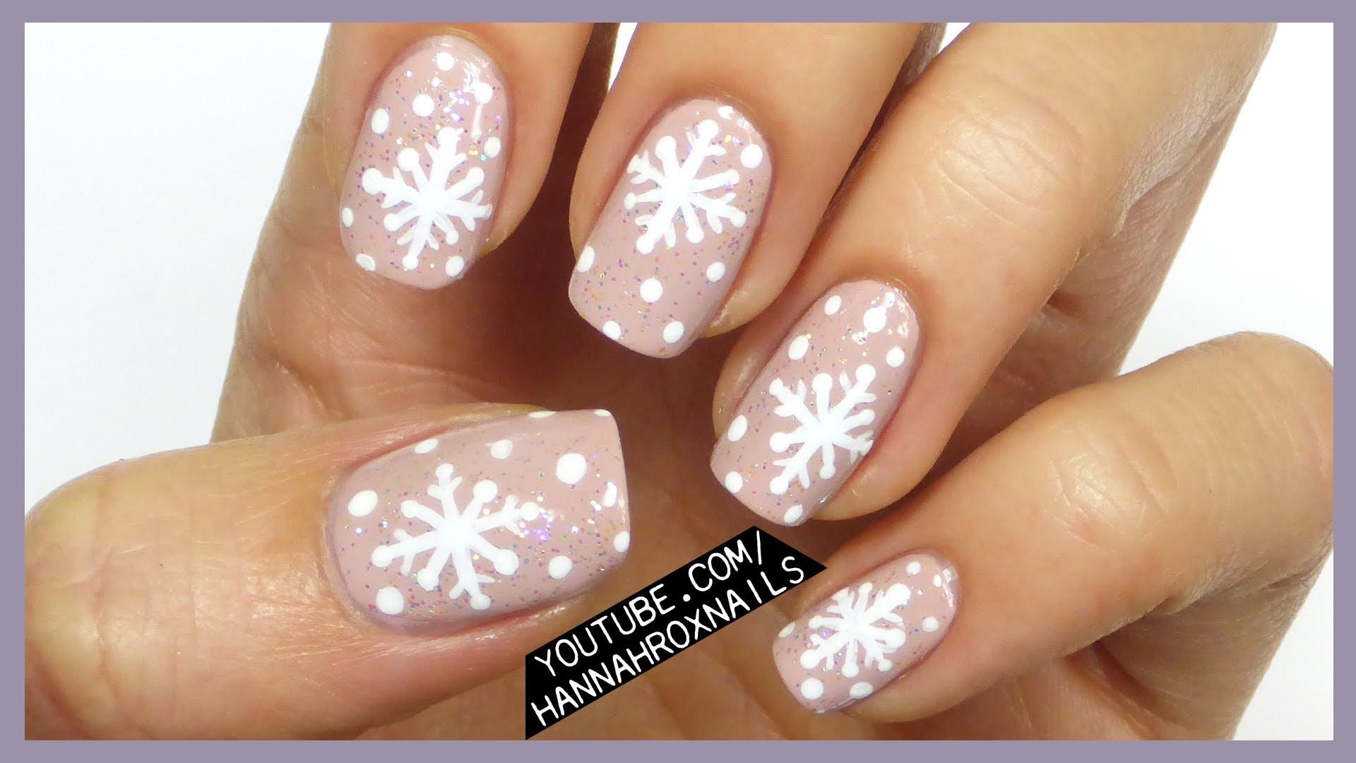 50 latest winter nail art design ideas white snowflakes design winter nail art prinsesfo Images