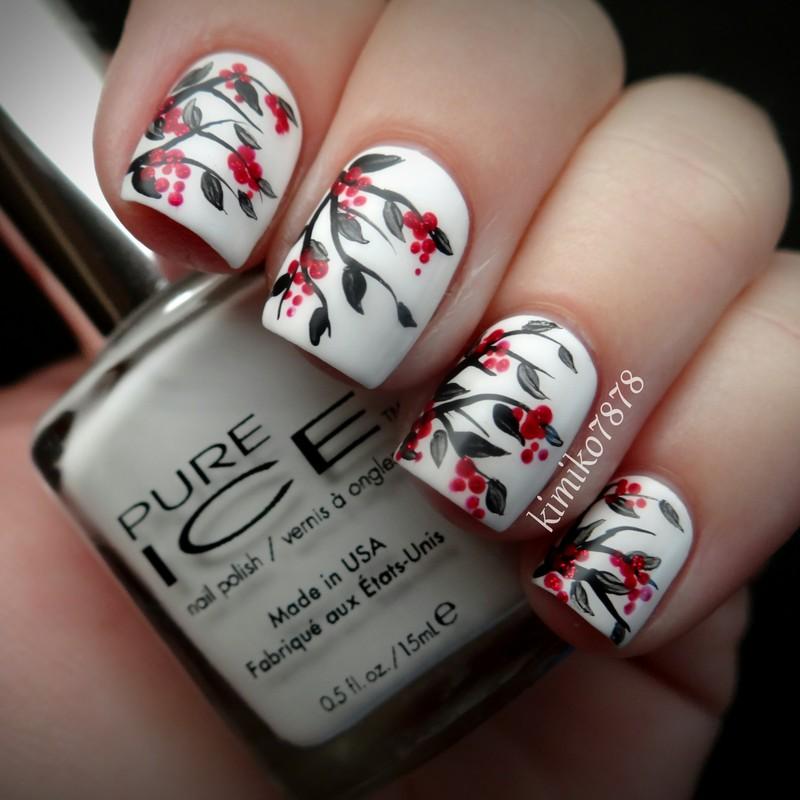 Unique Red Black White Nails Gift - Nail Art Design Ideas ...