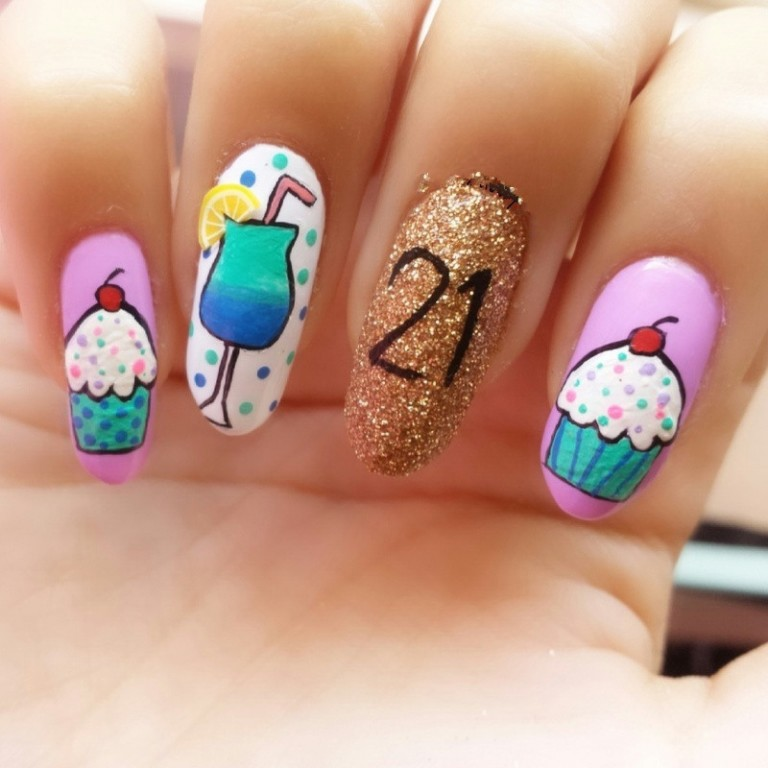 50 Best Birthday Nail Art Designs