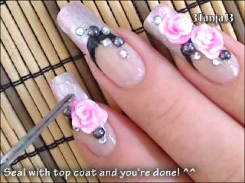 35 best 3d rose flowers nail art design ideas 3d acrylic rose flowers nail art design idea prinsesfo Images