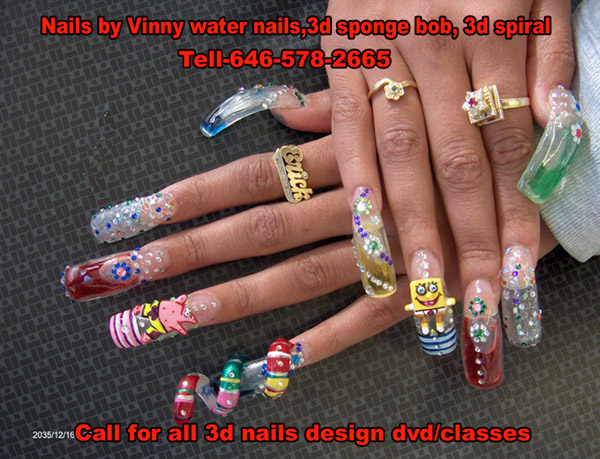 60 Most Beautiful Spiral Design Nail Art Ideas