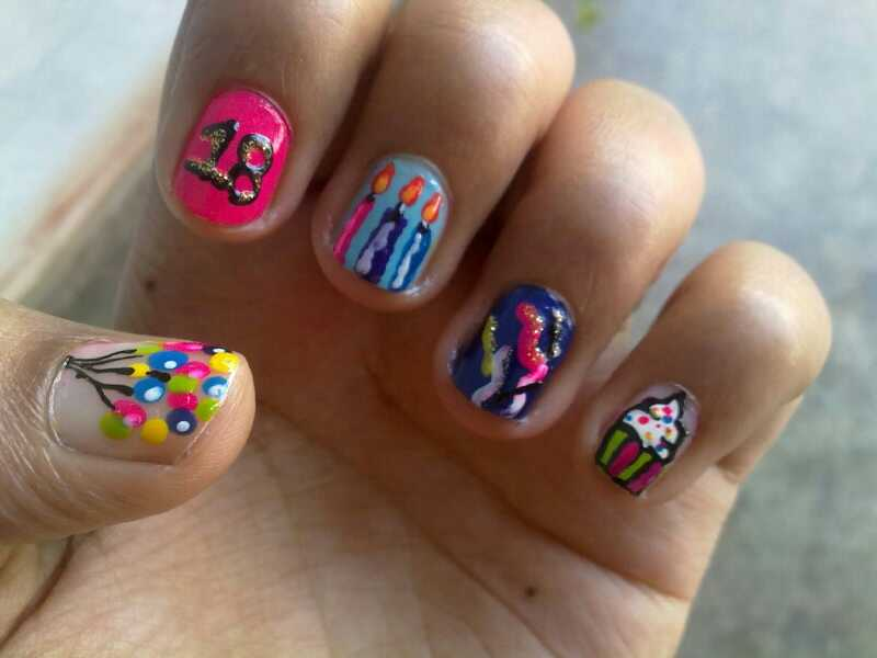 40 Most Beautiful Birthday Nail Art Design Ideas