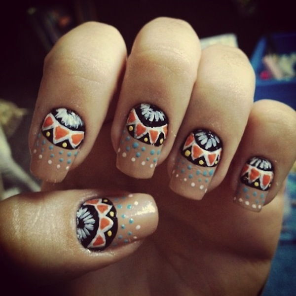 60 Most Stylish Tribal Nail Art Design Idea