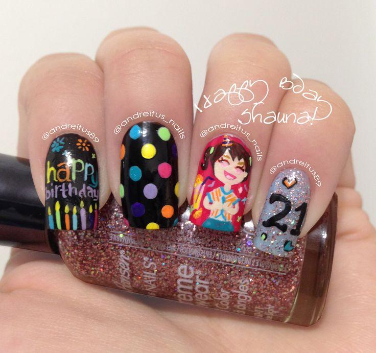 Adorable Stylish Birthday Nail Art Design Idea - 40 Most Beautiful Birthday Nail Art Design Ideas