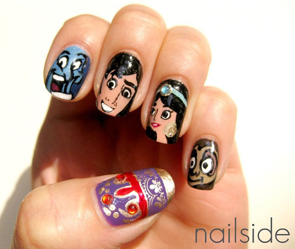 Nail Art Cartoon Design The Best Inspiration For Design And Color