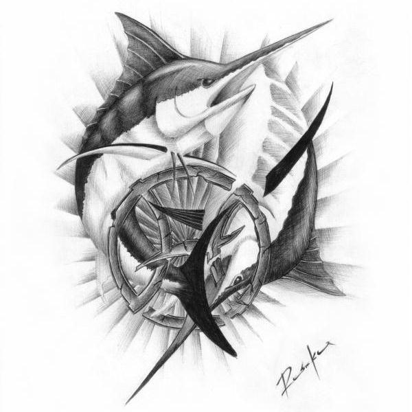 31 nice sea creature tattoos. Black Bedroom Furniture Sets. Home Design Ideas