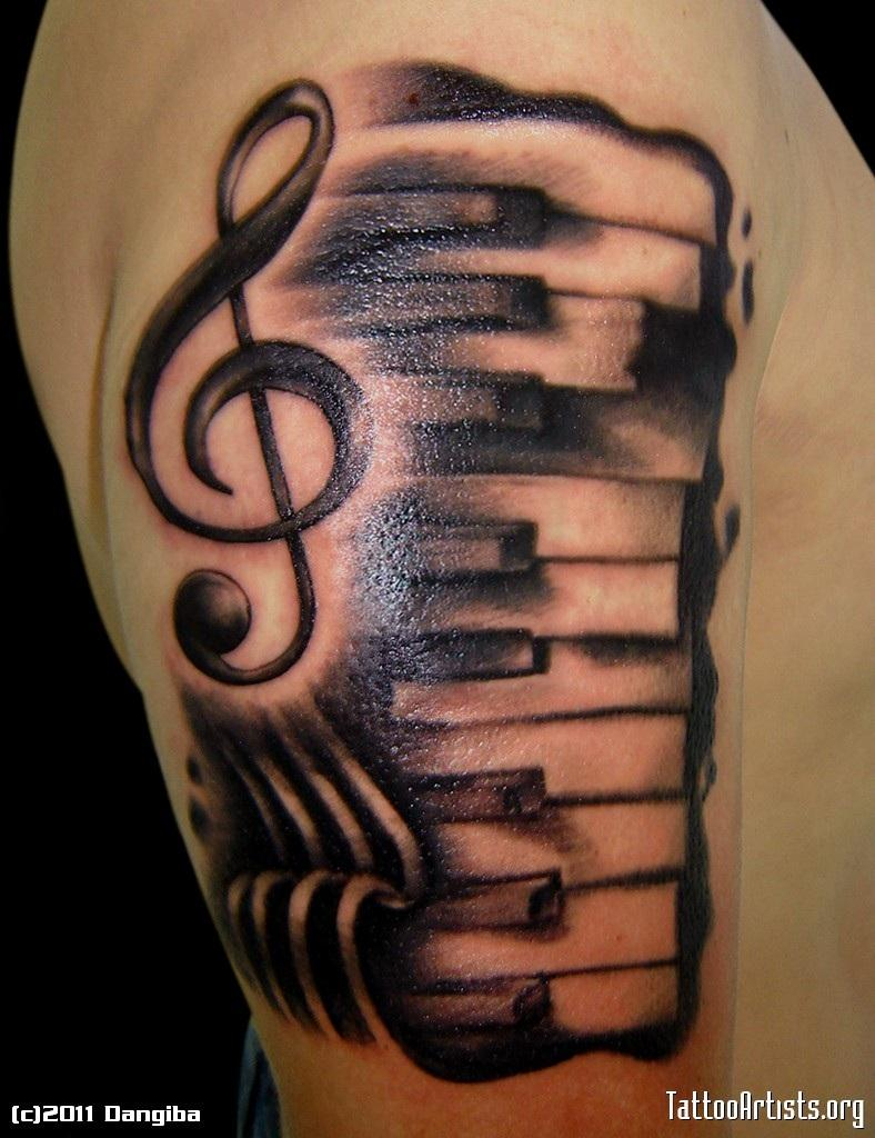 20+ Piano Tattoos On Sleeve