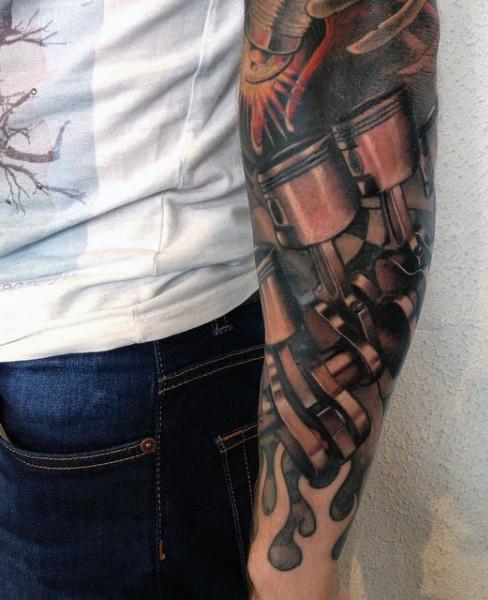 45+ Mechanical Engine Tattoos