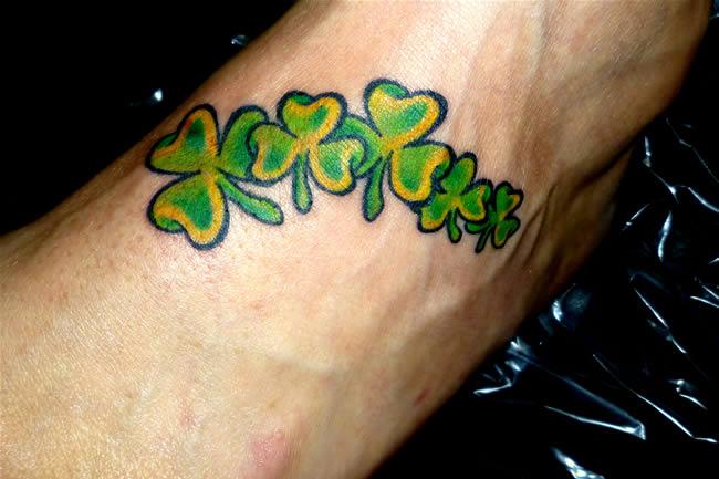 17+ Shamrock Tattoo Ideas For Foot