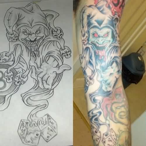 Tattoo Ideas Jester: 40+ Famous Jester Tattoos
