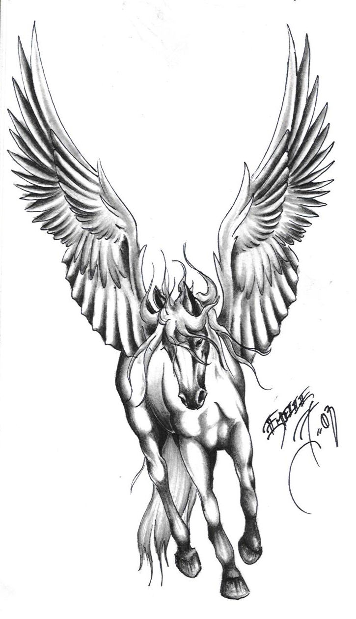 40 Famous Pegasus Tattoo Designs