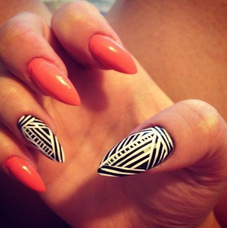 35 Cool Stiletto Nail Art Designs