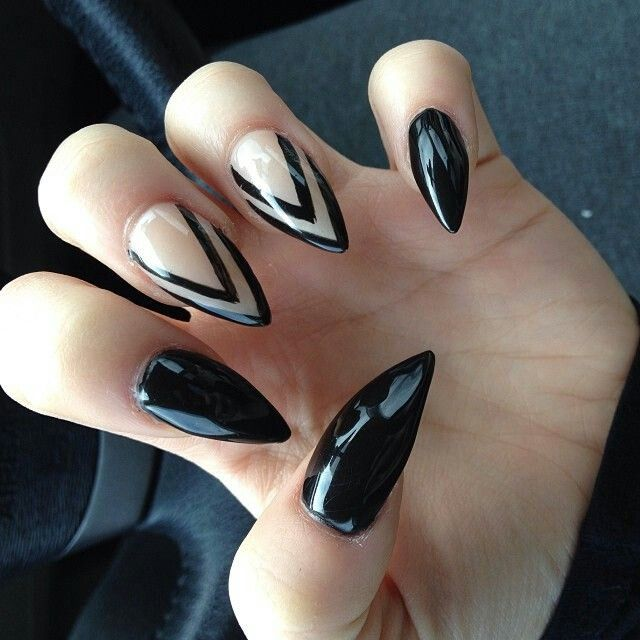 57+ Most Beautiful Stiletto Nail Art Design Ideas