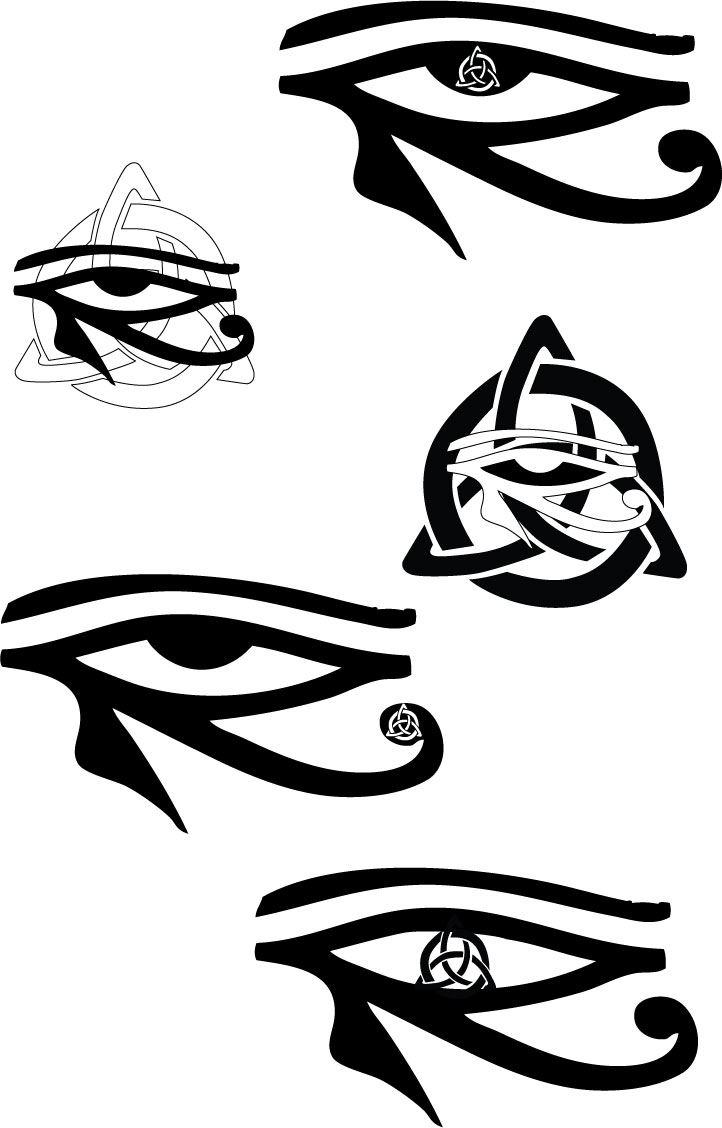 Tribal-Tattoos Beautiful-Celtic-Horus-Eye-Tattoo-Samples